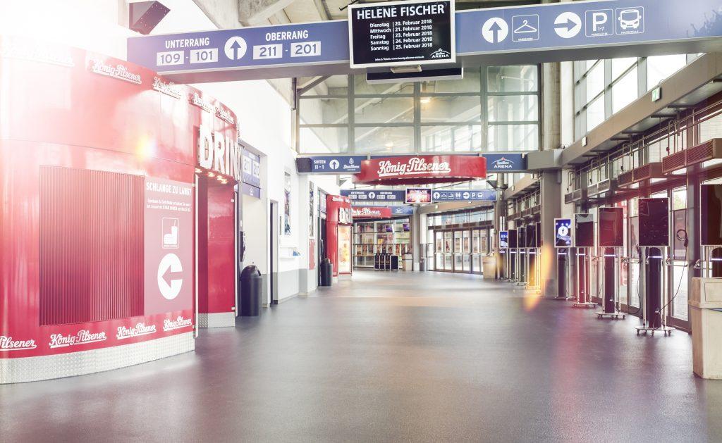 Pressefoto König-Pilsener-ARENA / Foyer