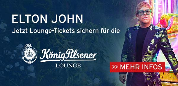 Jetzt Lounge-Tickets sichern für Elton John in der König-Pilsener-ARENA