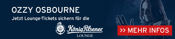 Jetzt Lounge-Tickets sichern für Ozzy Osbourne in der König-Pilsener-ARENA