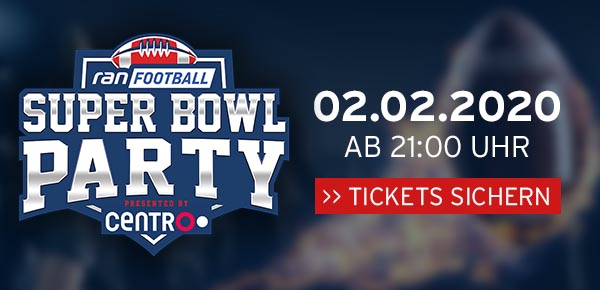 Die ran Football Super Bowl Party in der König-Pilsener-ARENA
